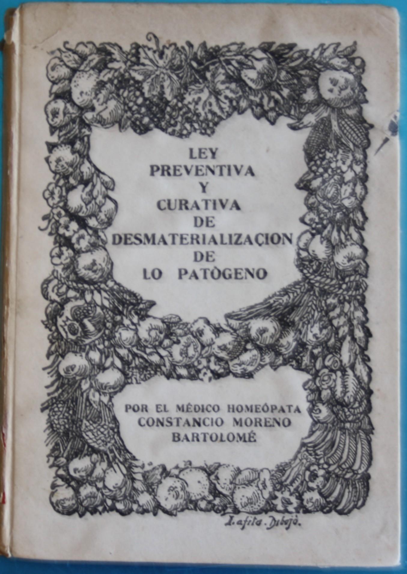 Portada de un libro de don Constancio Moreno Bartolomé